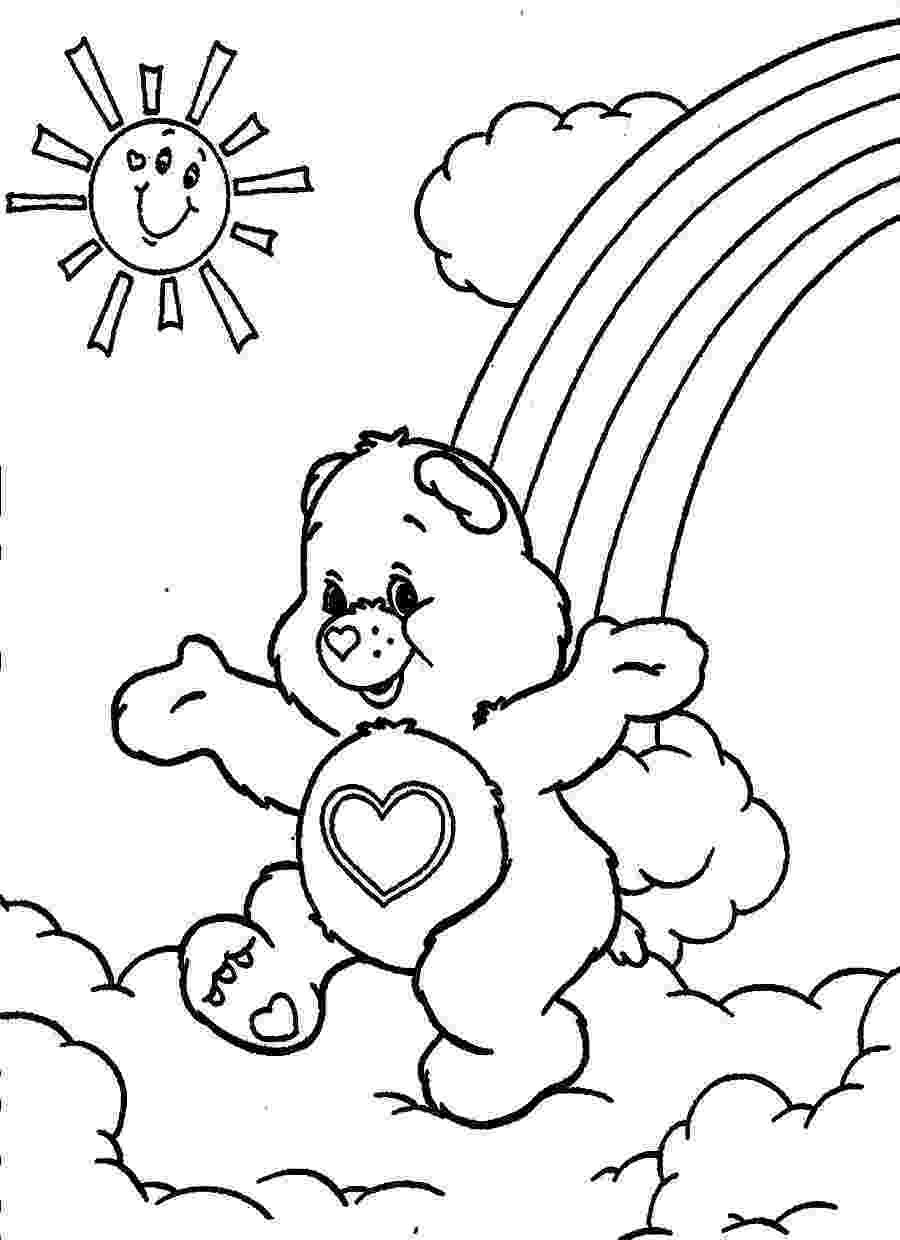 coloring page bear free printable care bear coloring pages for kids page bear coloring