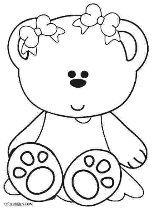 coloring page bear printable teddy bear coloring pages for kids cool2bkids bear coloring page