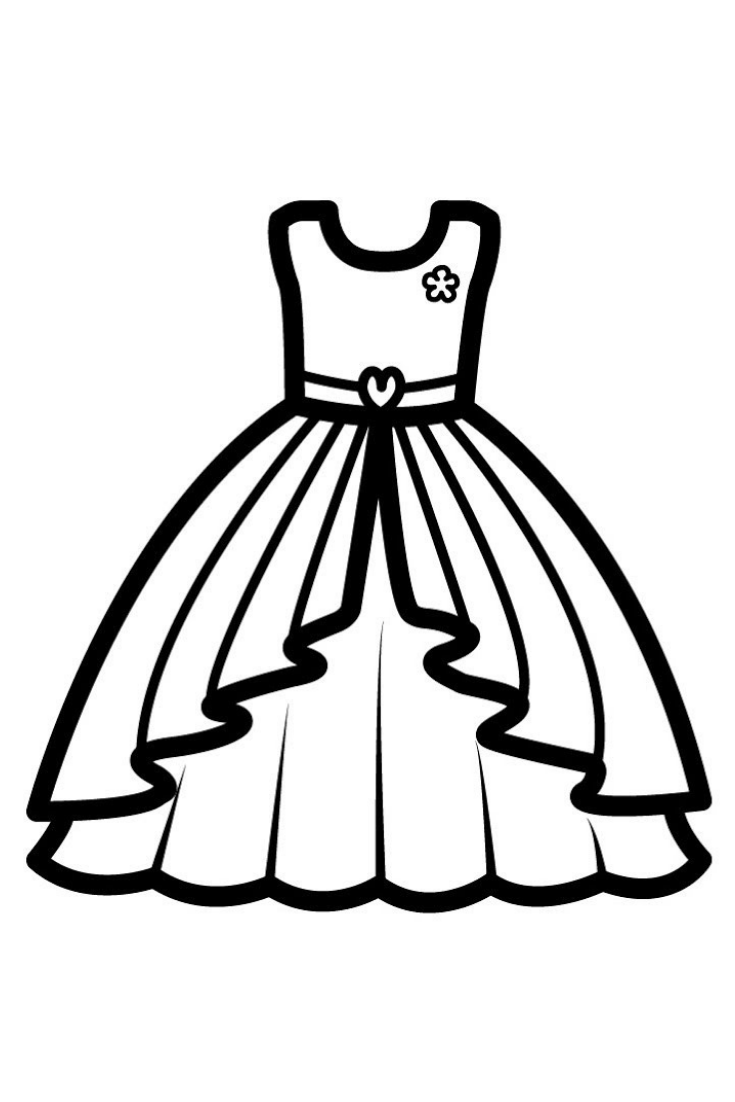 coloring page dress dress coloring pages free download on clipartmag page dress coloring