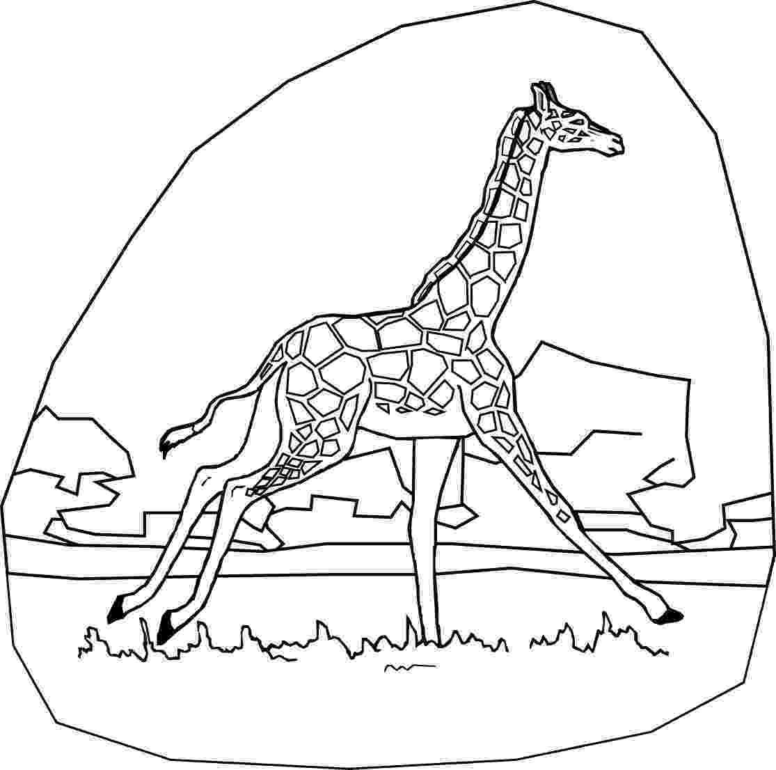 coloring page giraffe kids n funcom 45 coloring pages of giraffe coloring page giraffe 1 1