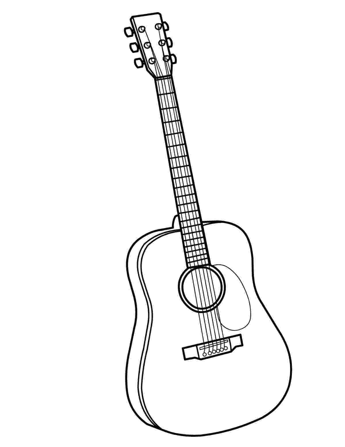 coloring page guitar guitar coloring page twisty noodle page guitar coloring