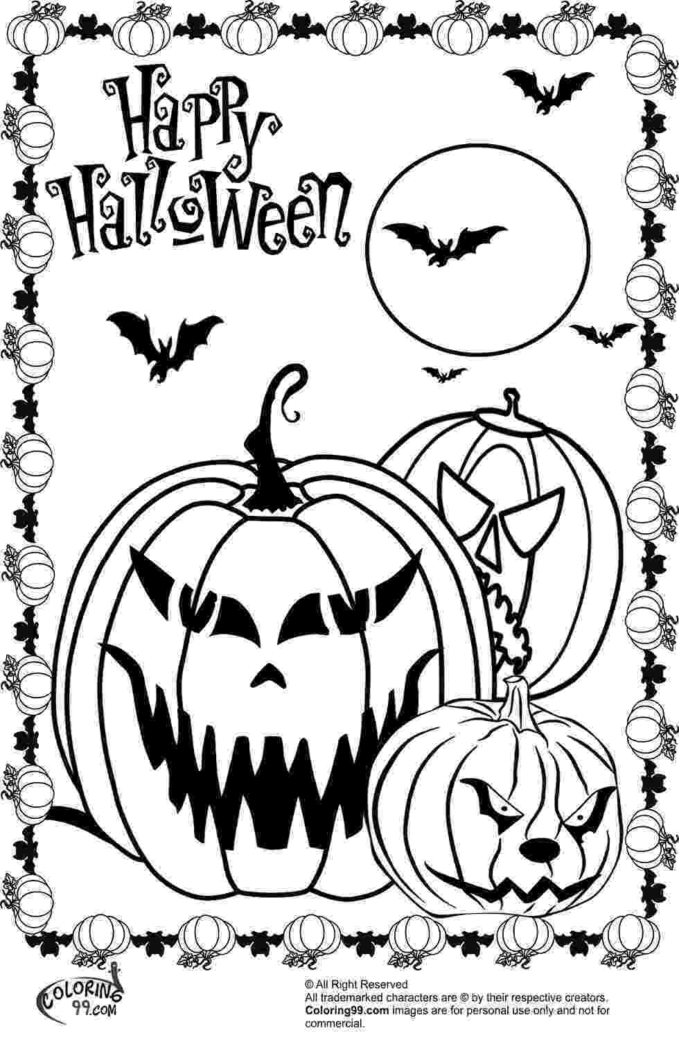 coloring page halloween printable free scary halloween coloring pages printable scary page printable halloween coloring