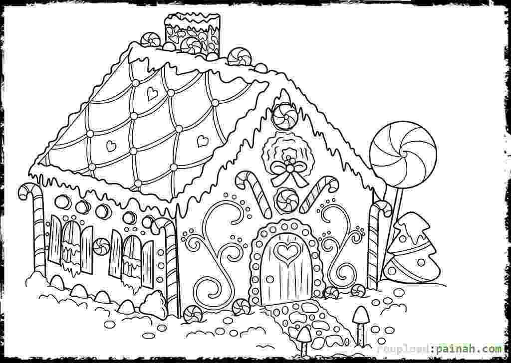 coloring page house gingerbread house coloring pages to download and print for page coloring house 1 1