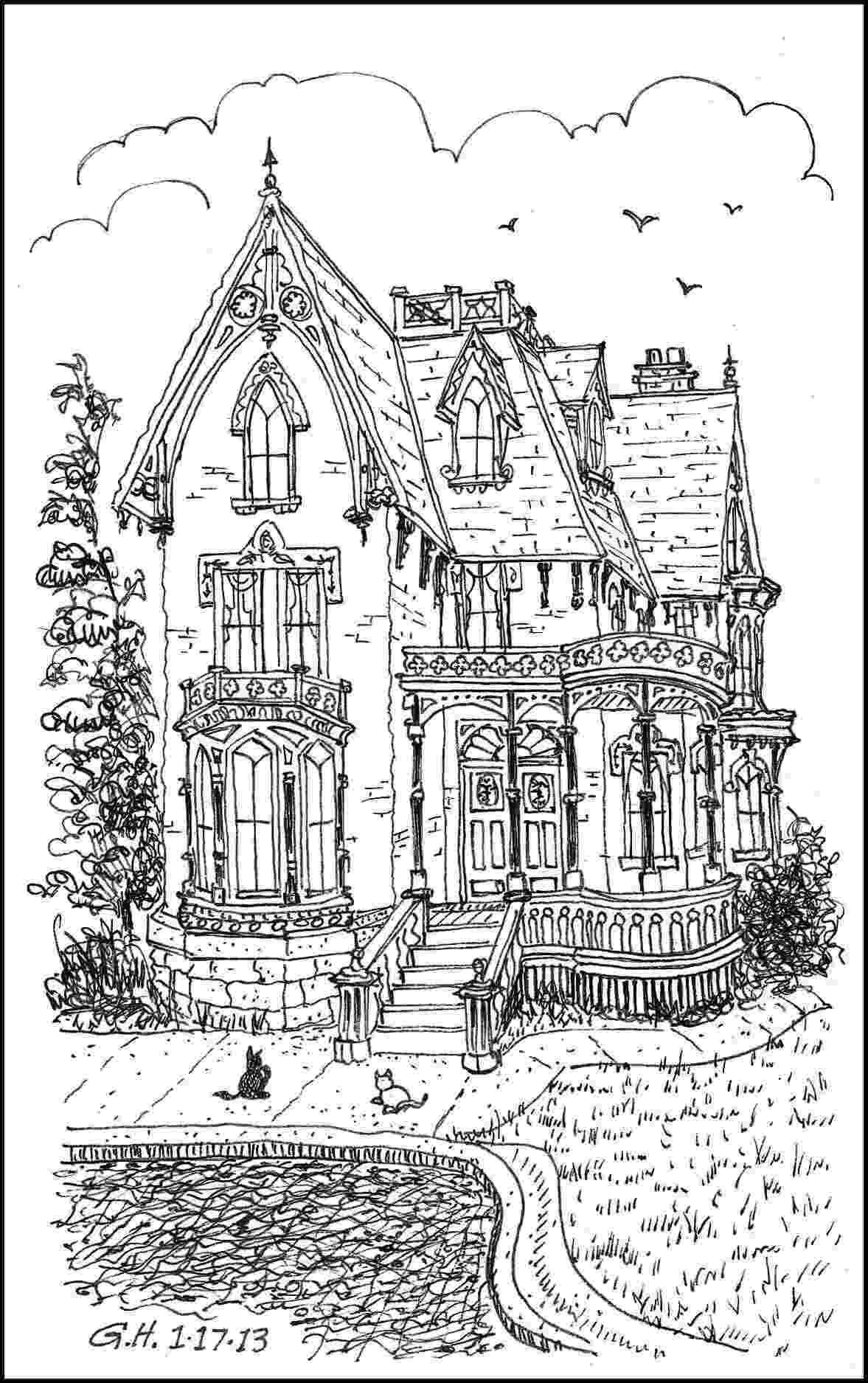 coloring page house scary haunted house coloring pages download and print for free coloring page house