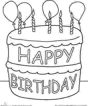 coloring page of a birthday cake birthday cake coloring page at getcoloringscom free page a coloring cake birthday of