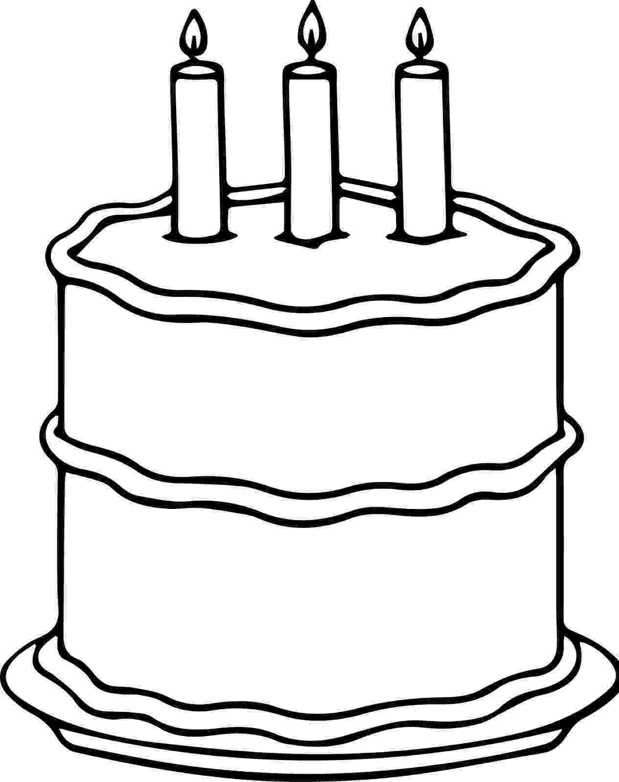 coloring page of a birthday cake birthday cake coloring page birthday coloring pages page cake birthday of a coloring