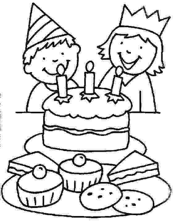 coloring page of a birthday cake birthday cake coloring pages birthday coloring pages a coloring of cake page birthday