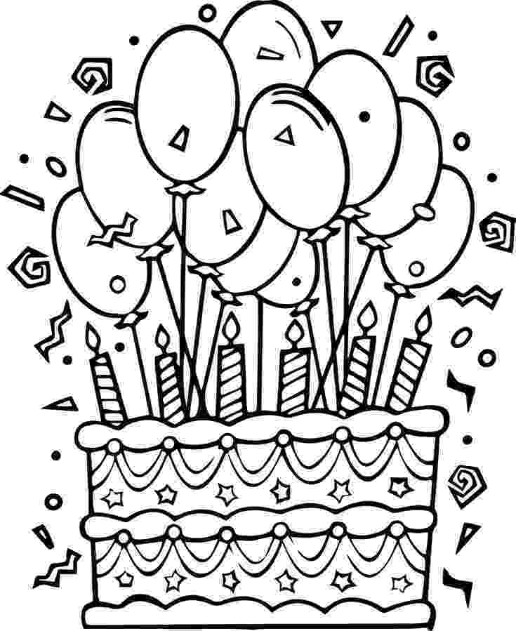 coloring page of a birthday cake birthday cake coloring pages getcoloringpagescom of page birthday a cake coloring