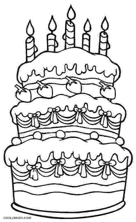 coloring page of a birthday cake birthday cake coloring pages getcoloringpagescom of page birthday cake a coloring