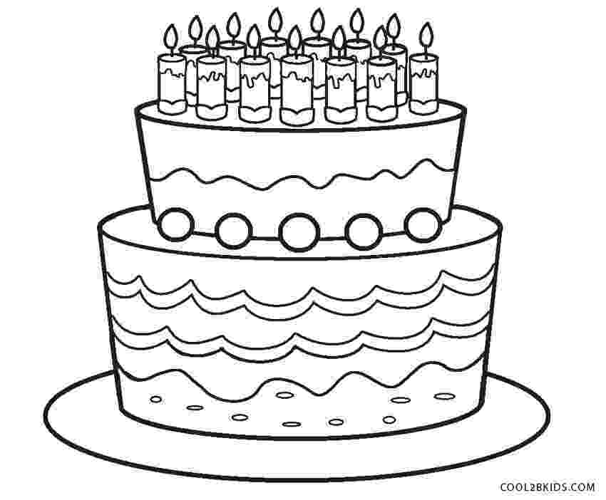 coloring page of a birthday cake free printable birthday cake coloring pages for kids birthday page cake coloring a of
