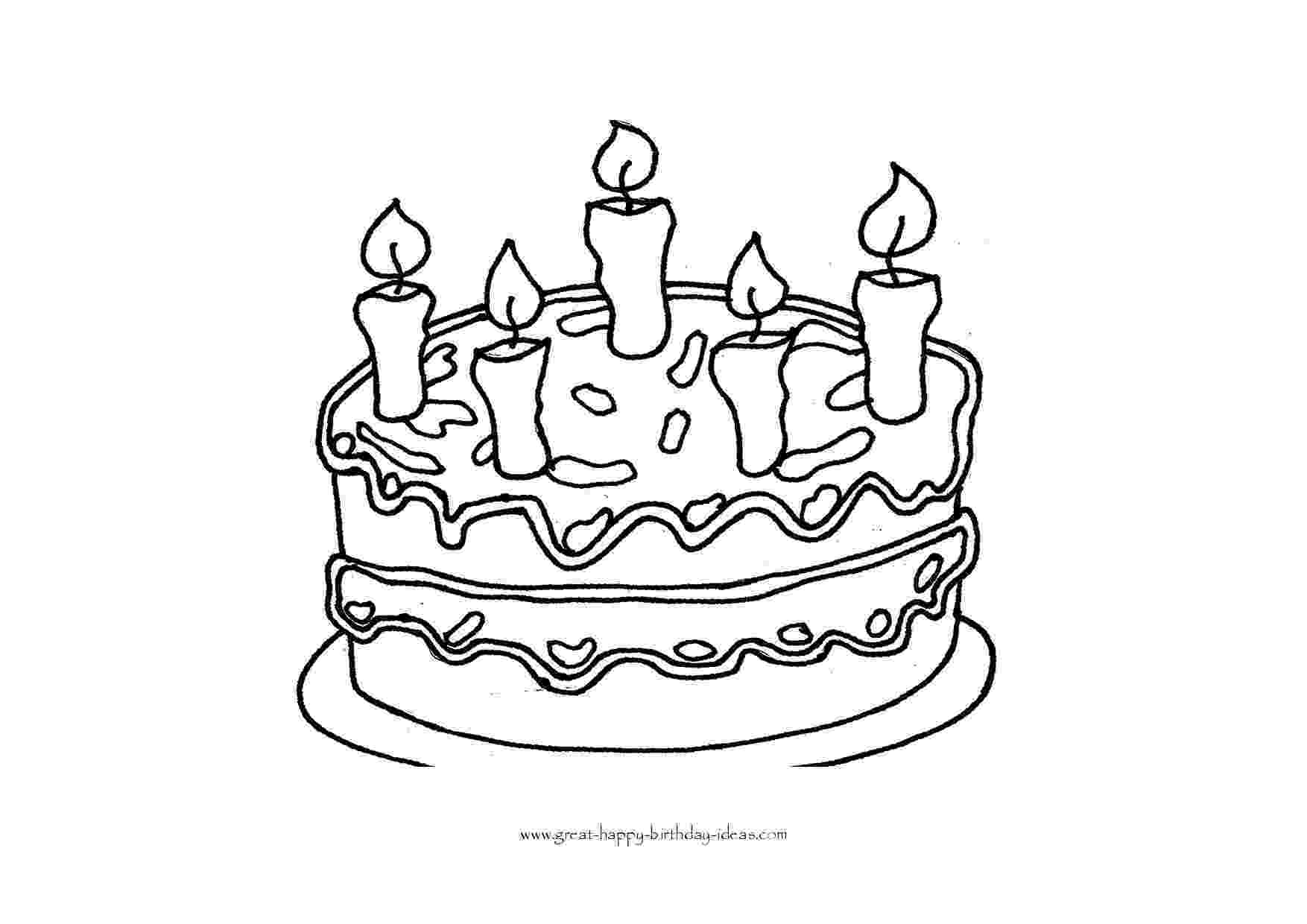 coloring page of a birthday cake free printable birthday cake coloring pages for kids cake coloring a birthday of page