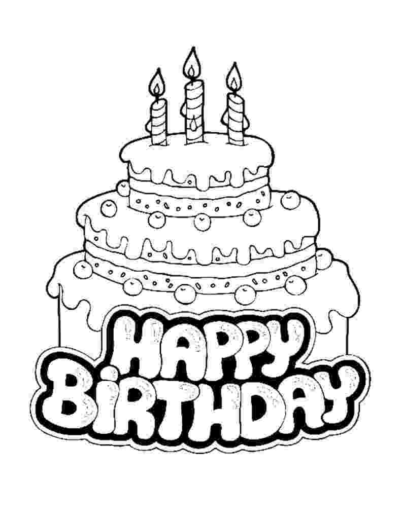coloring page of a birthday cake free printable birthday cake coloring pages for kids cake page of coloring birthday a