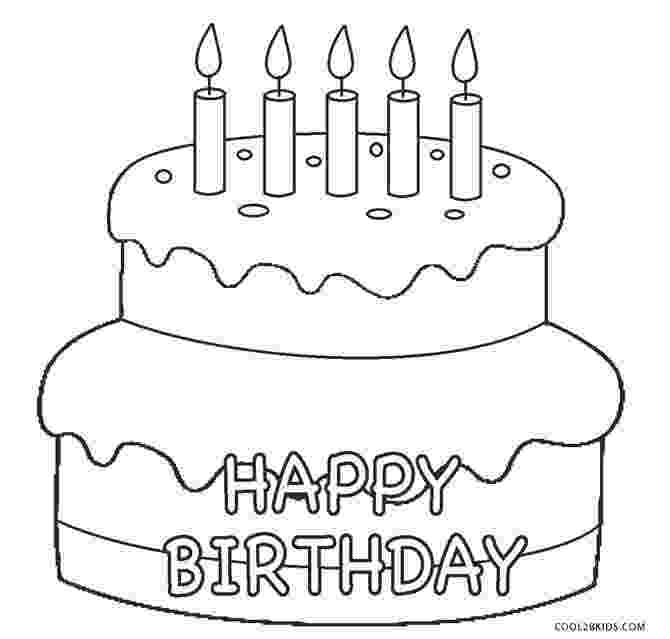 coloring page of a birthday cake free printable birthday cake coloring pages for kids coloring a birthday of page cake