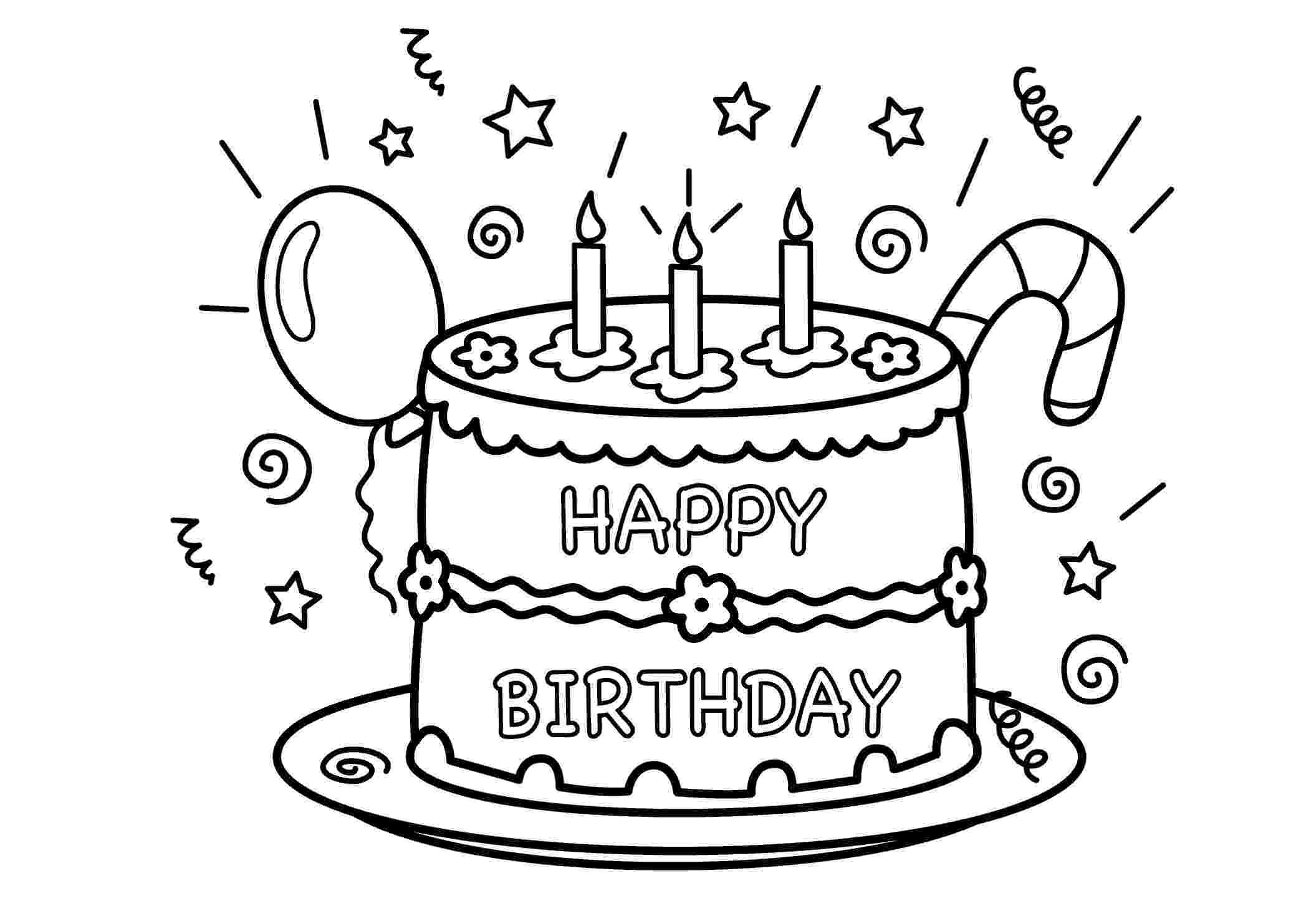 coloring page of a birthday cake free printable birthday cake coloring pages for kids of page coloring a birthday cake