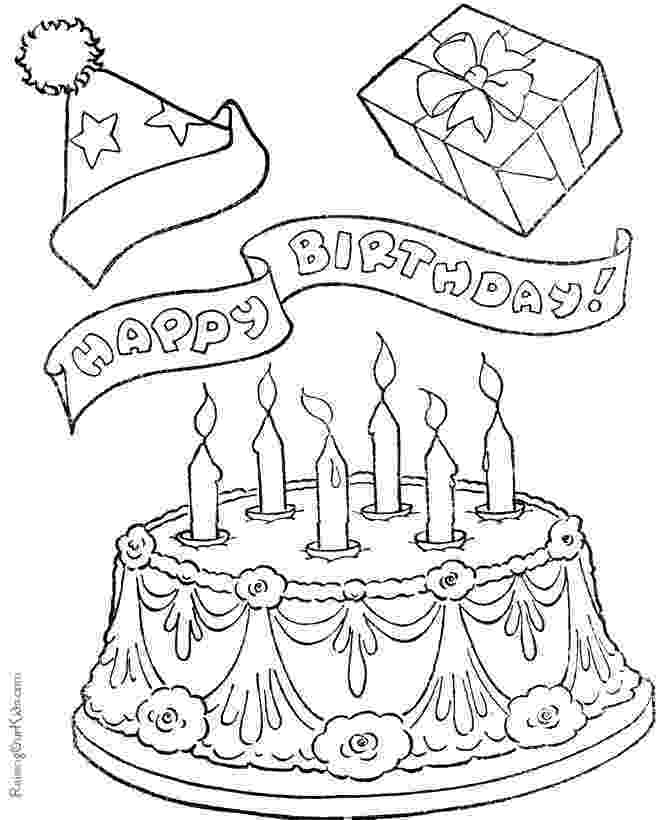 coloring page of a birthday cake printable birthday coloring pages page coloring cake of birthday a