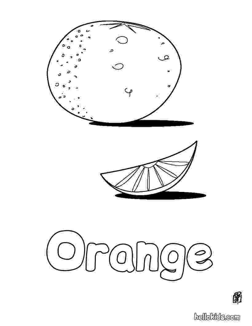 coloring page of a orange orange coloring pages getcoloringpagescom page coloring orange of a