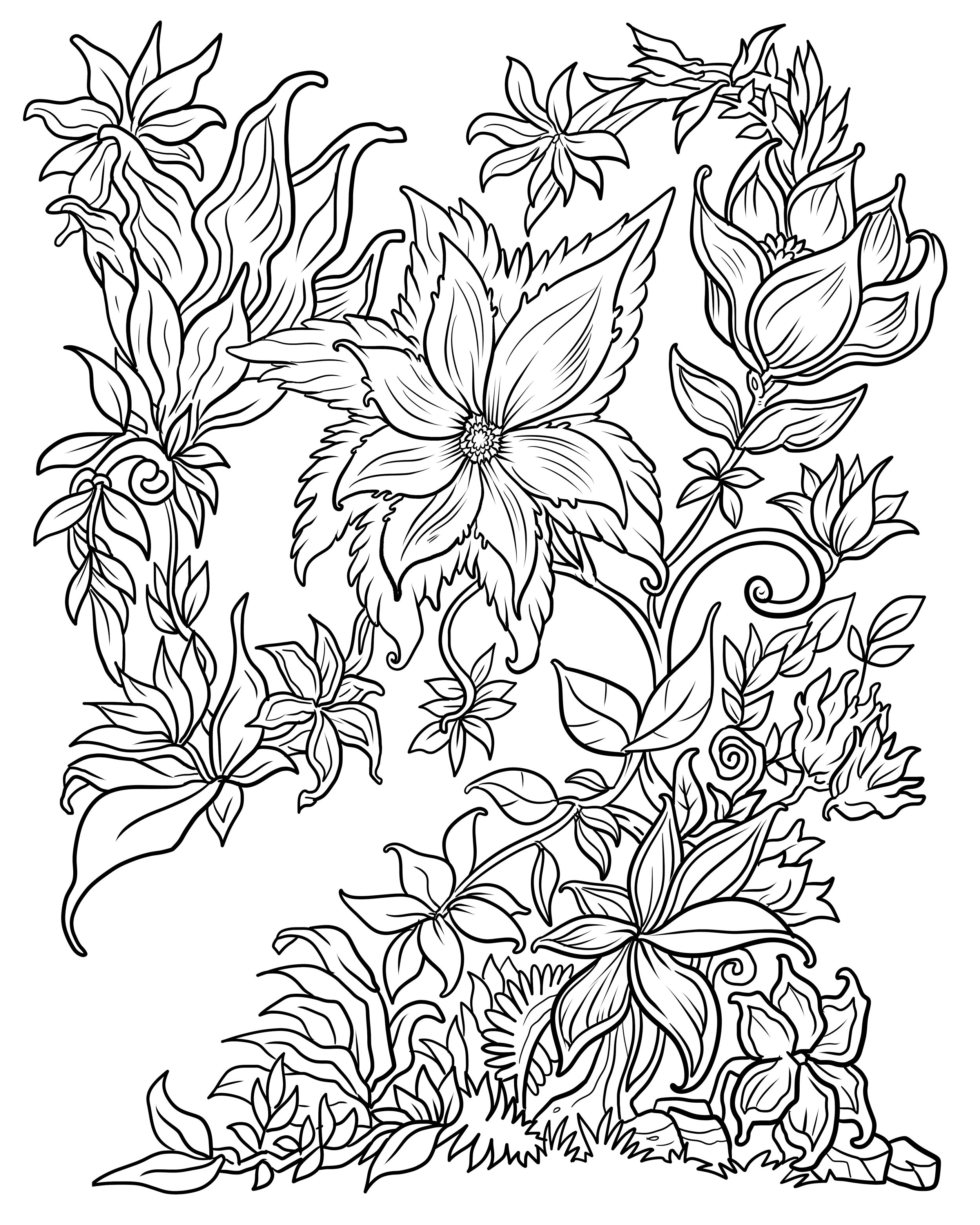 coloring page of flower flower images to print and color coloring page flower of