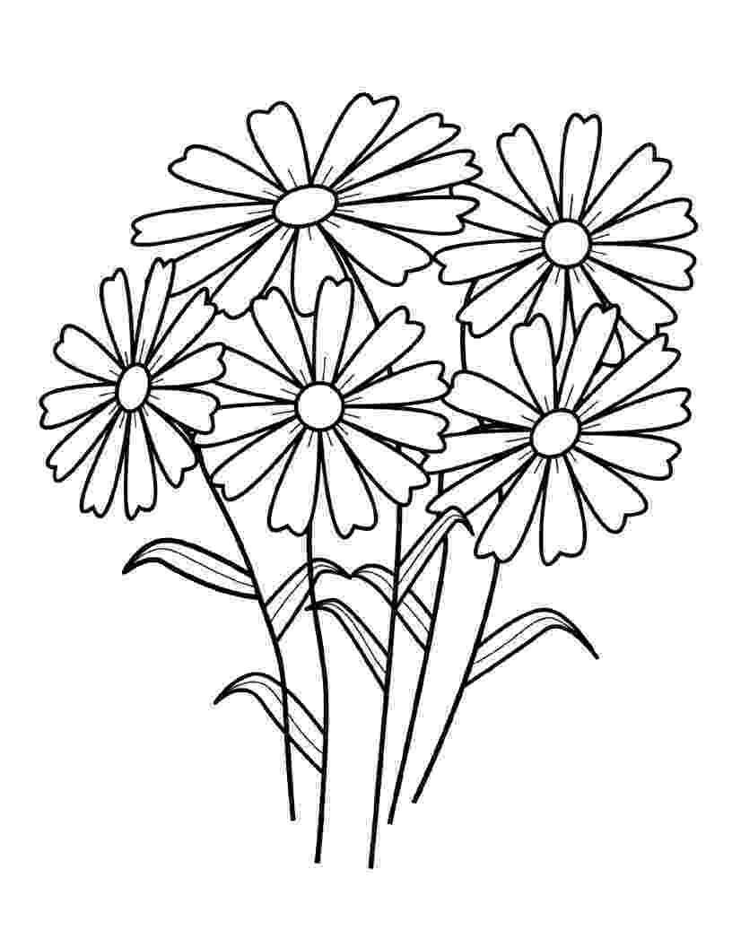 coloring page of flower wild flowers to color coloring page of flower