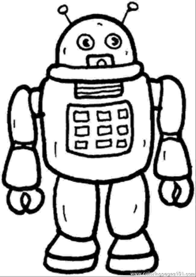 coloring page robot free printable robot coloring pages for kids coloring robot page 1 2