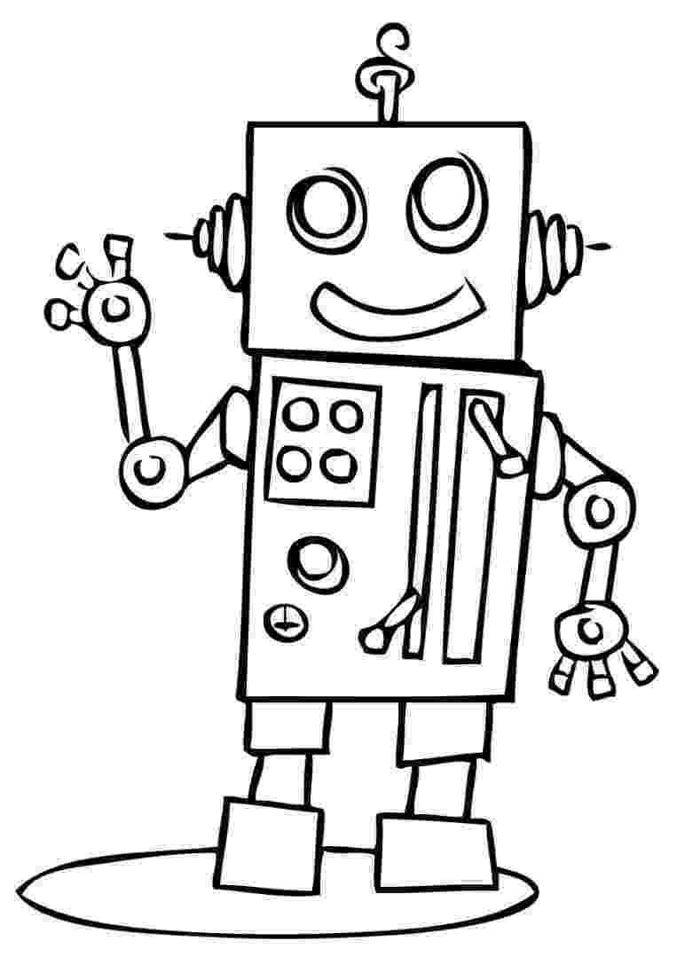 coloring page robot free printable robot coloring pages for kids cool2bkids page robot coloring 1 1