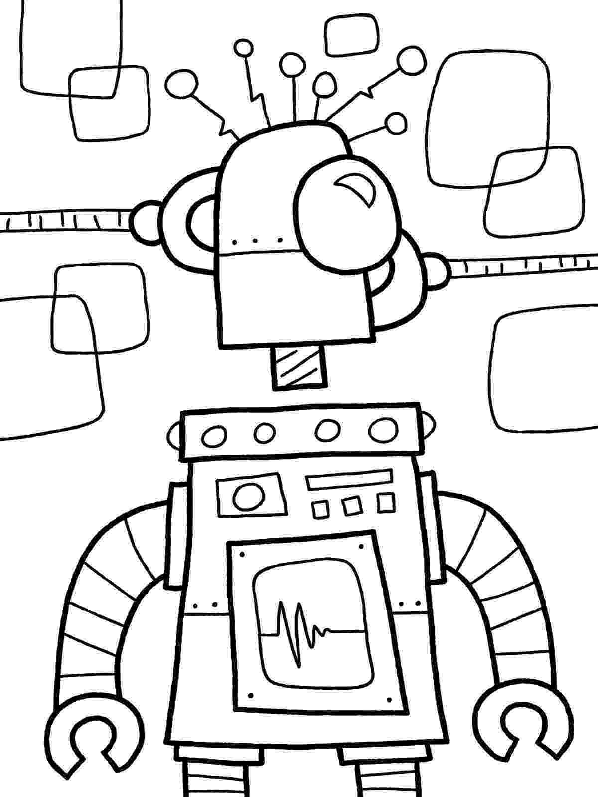 coloring page robot free printable robot coloring pages for kids robot coloring page