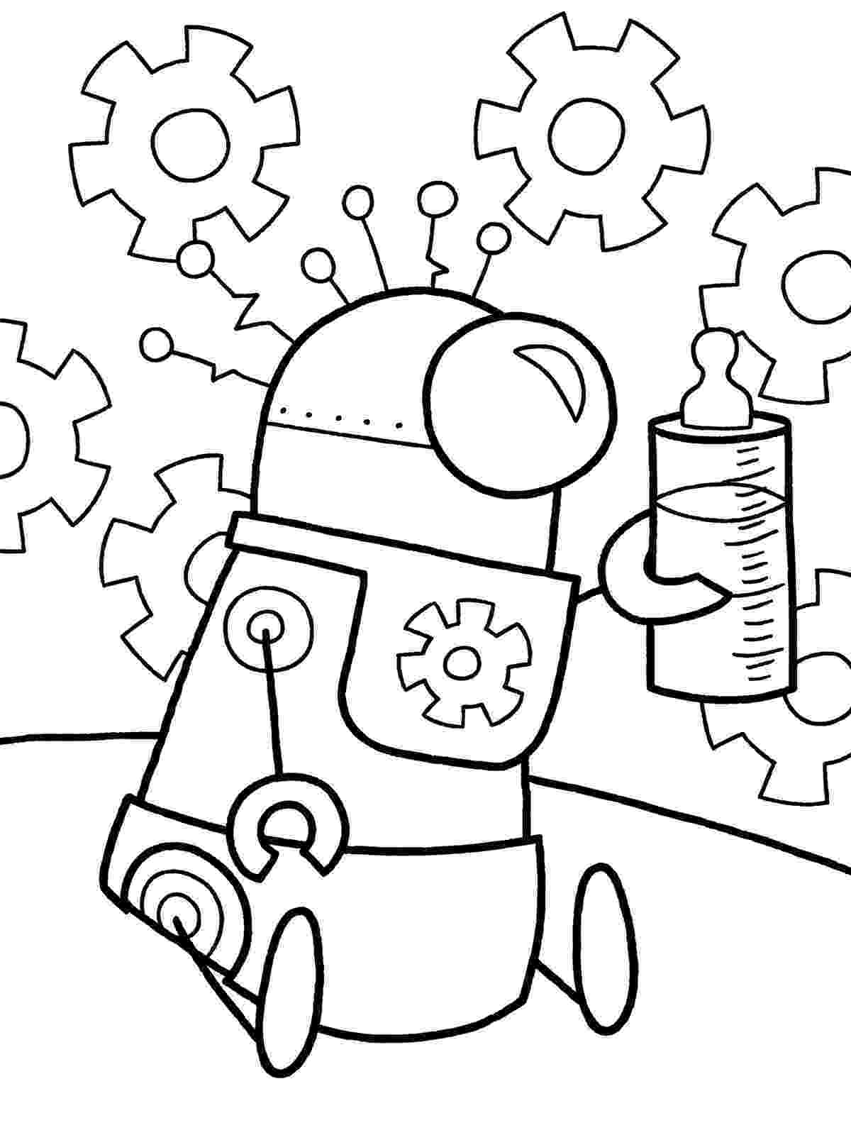 coloring page robot from future robots coloring pages and robot craft ideas page coloring robot