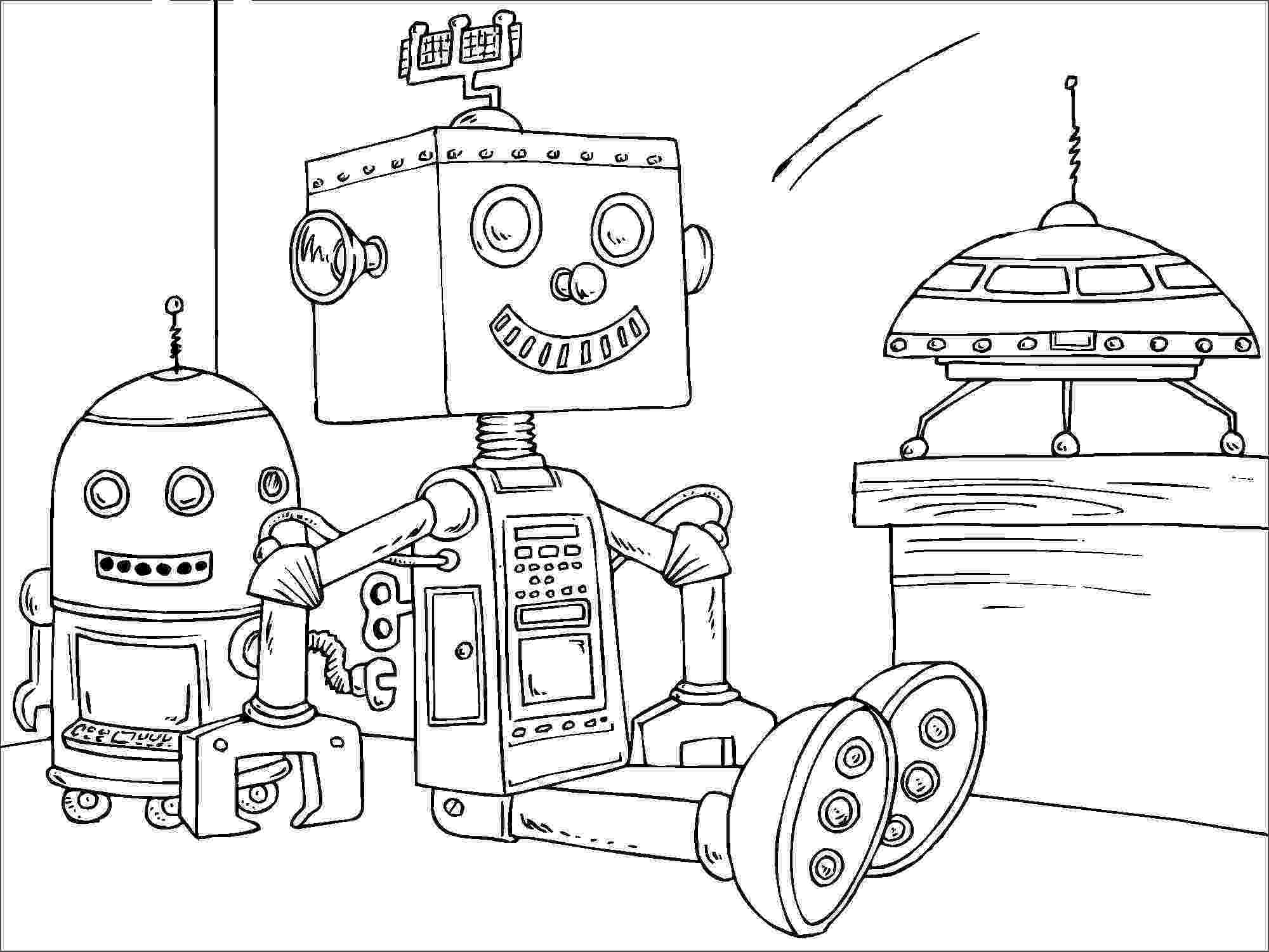 coloring page robot little robots coloring pages download and print for free coloring robot page