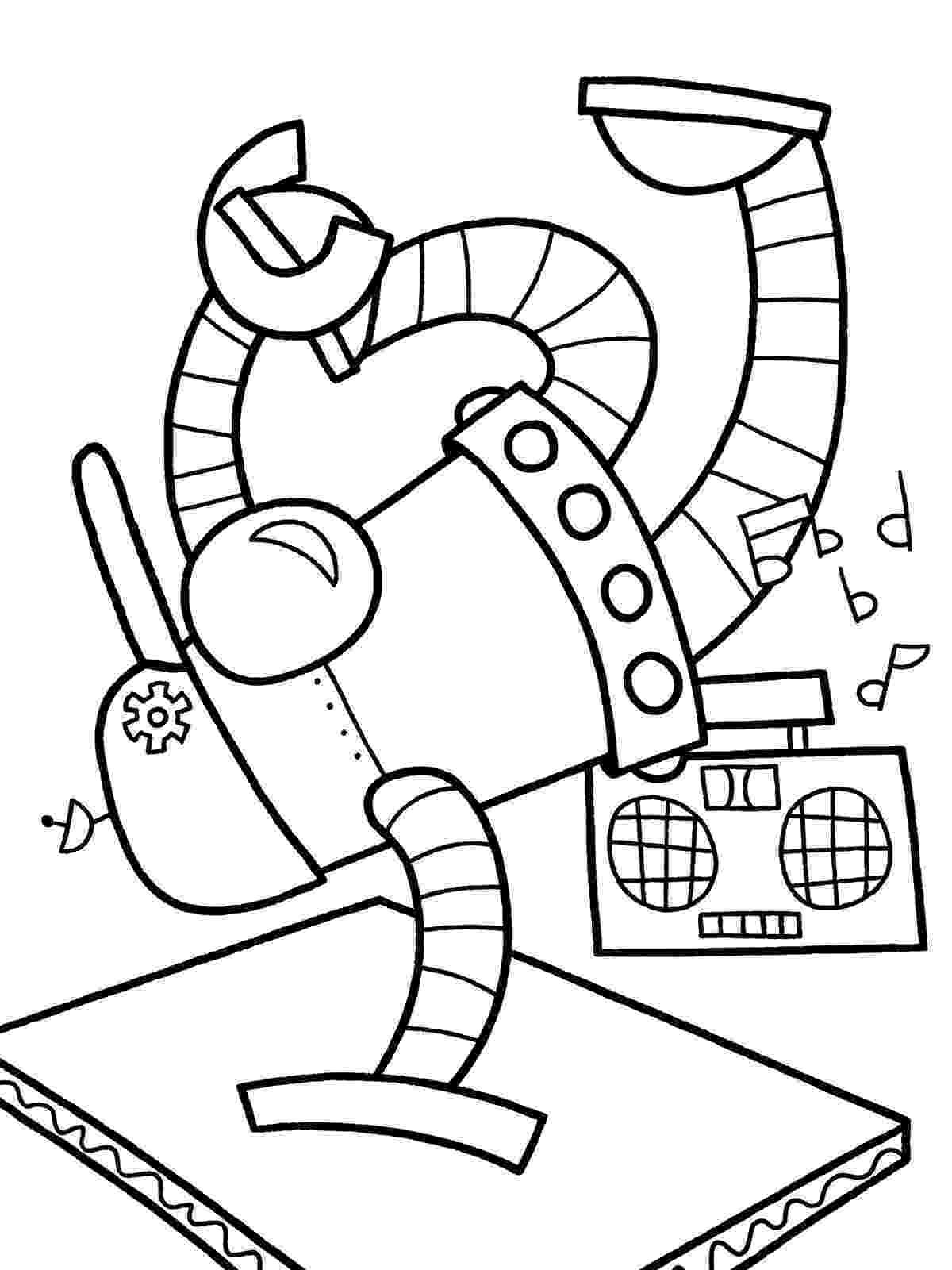 coloring page robot smiling robot coloring page free printable coloring pages coloring page robot