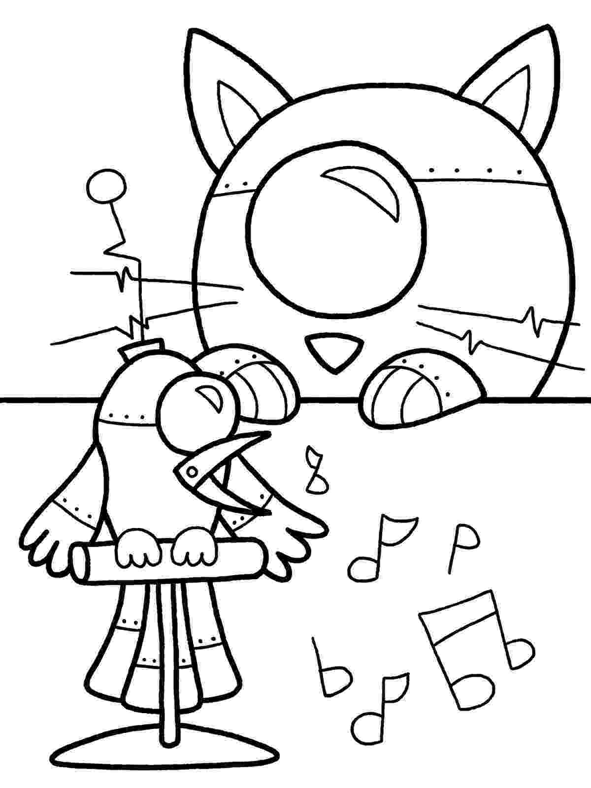coloring page robot witty title coming soon inktober continued robot page coloring