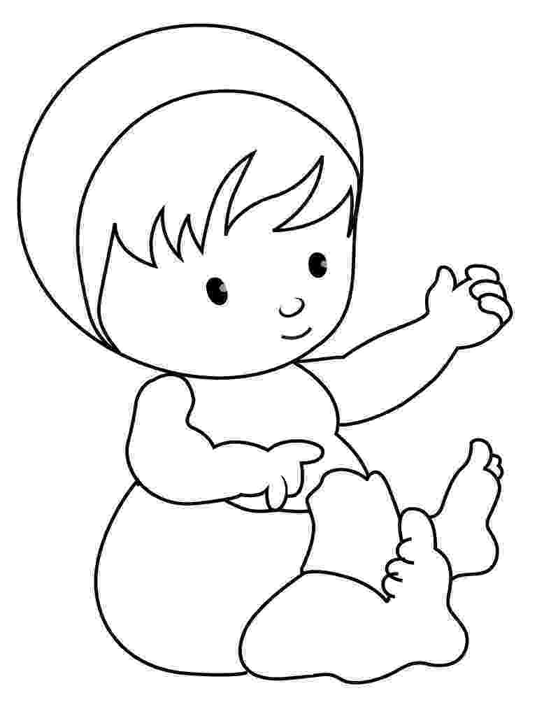 coloring pages baby free printable baby coloring pages for kids baby coloring pages 1 1