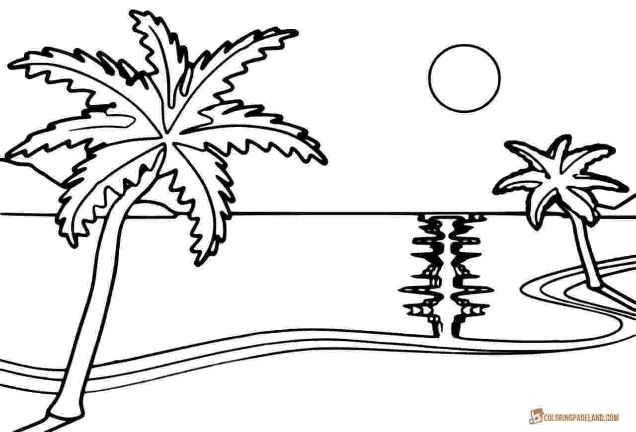 coloring pages beach scenes beach scene coloring page free printable coloring pages scenes pages beach coloring