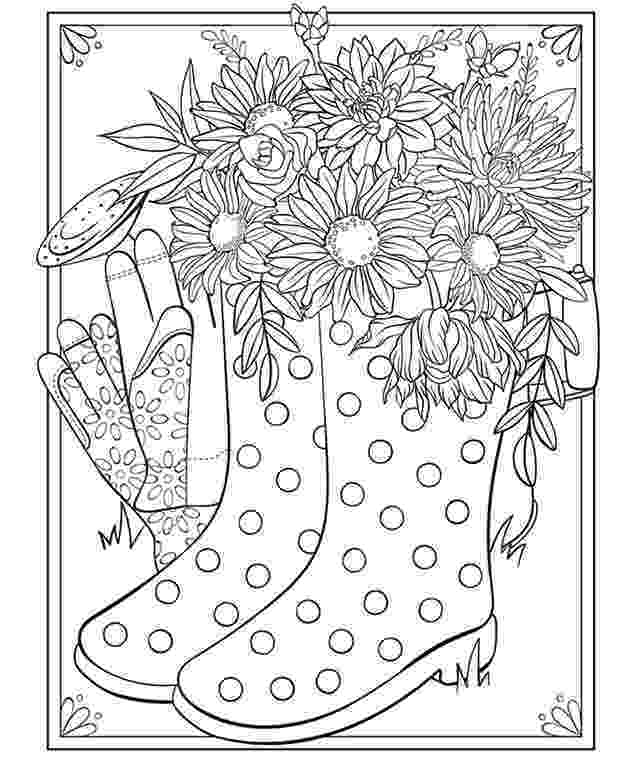 coloring pages boots cowboy boot adult coloring page favecraftscom coloring pages boots