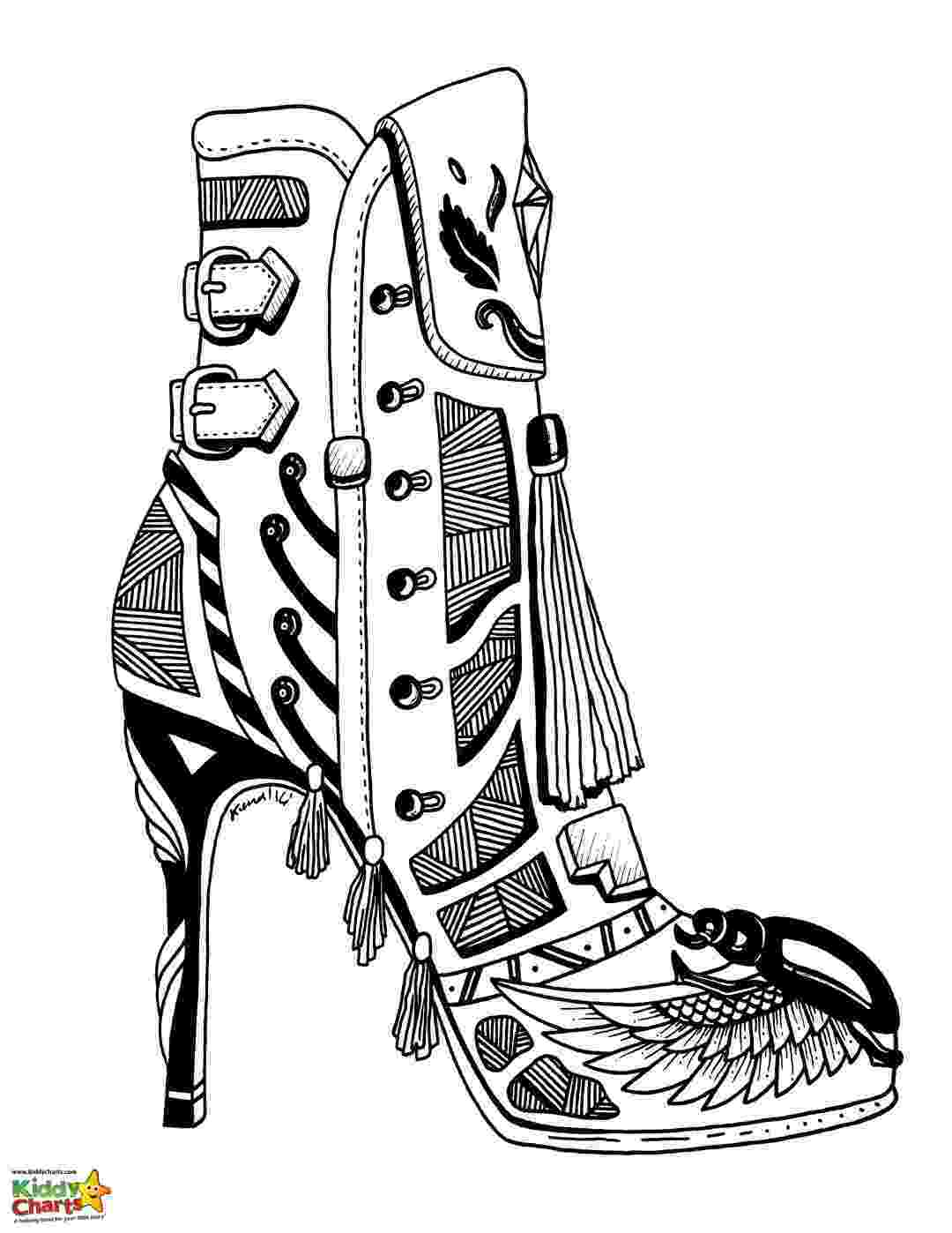 coloring pages boots cowgirl boots coloring pages at getdrawingscom free for boots coloring pages