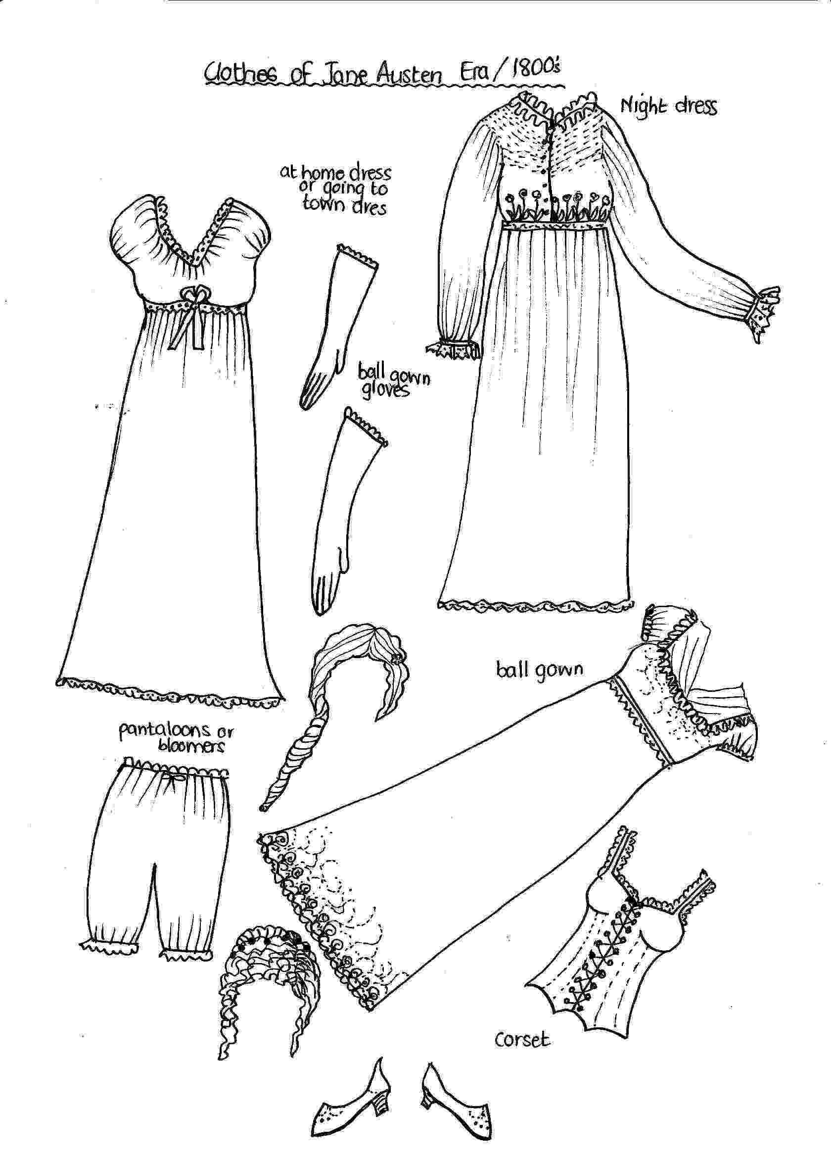 coloring pages clothes another sheet of clothing for ms mannequin paper thin clothes pages coloring