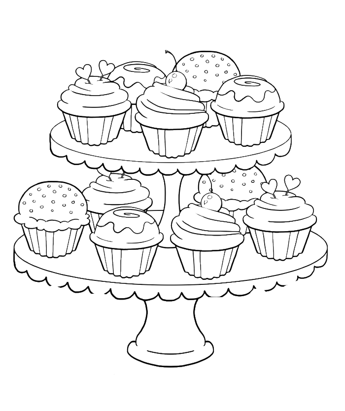 coloring pages cupcakes birthday cupcake coloring pages download and print for free cupcakes coloring pages