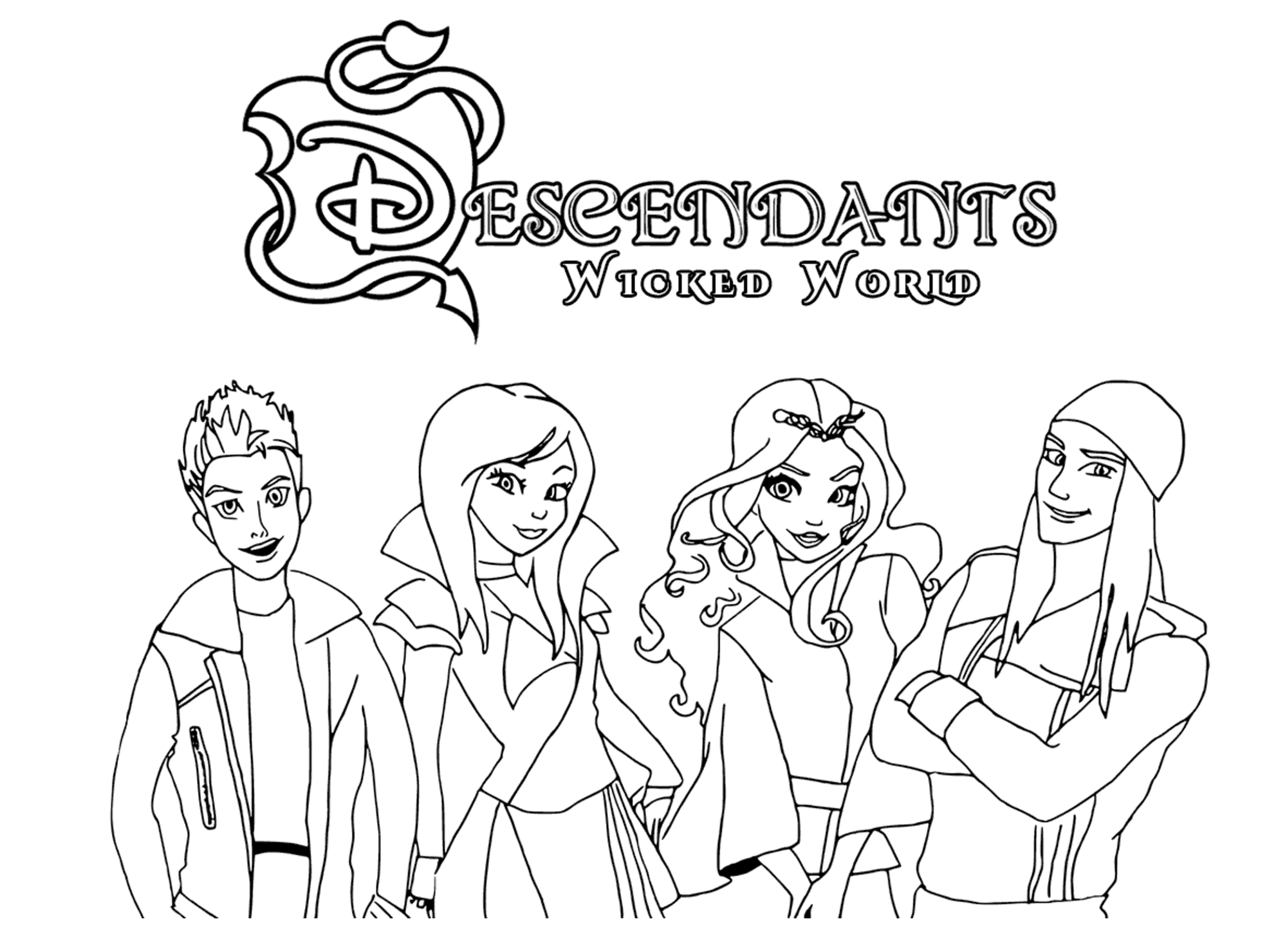 coloring pages descendants the descendants to print for free the descendants kids descendants pages coloring