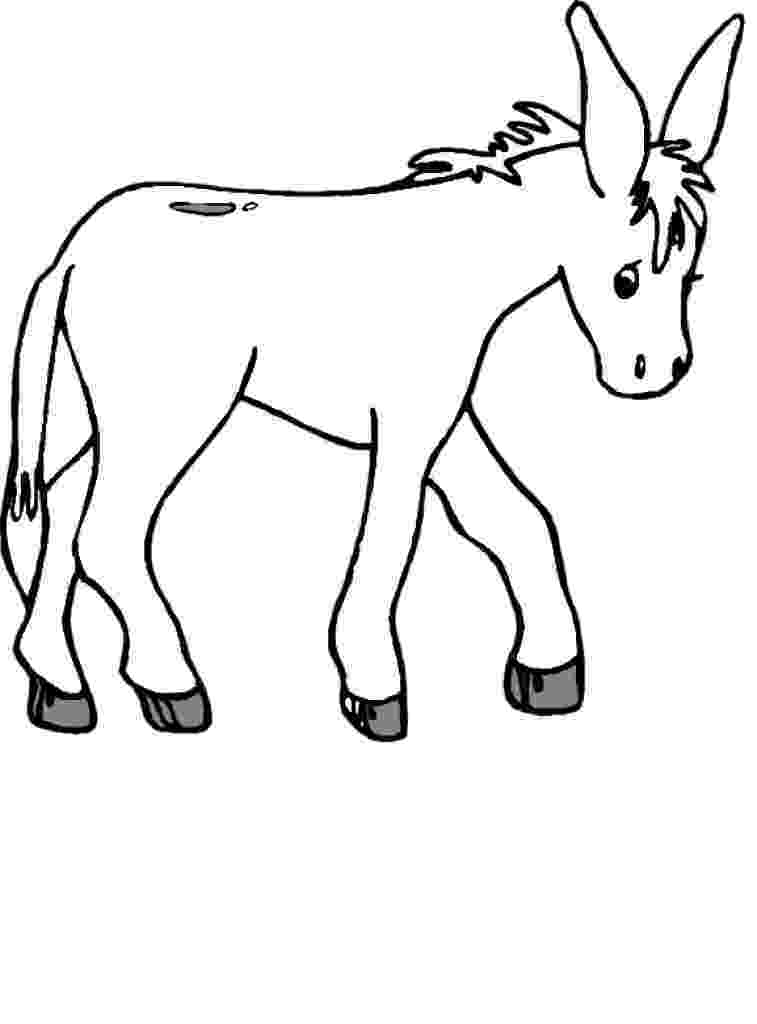 coloring pages donkey free printable donkey coloring pages for kids coloring donkey pages 1 1