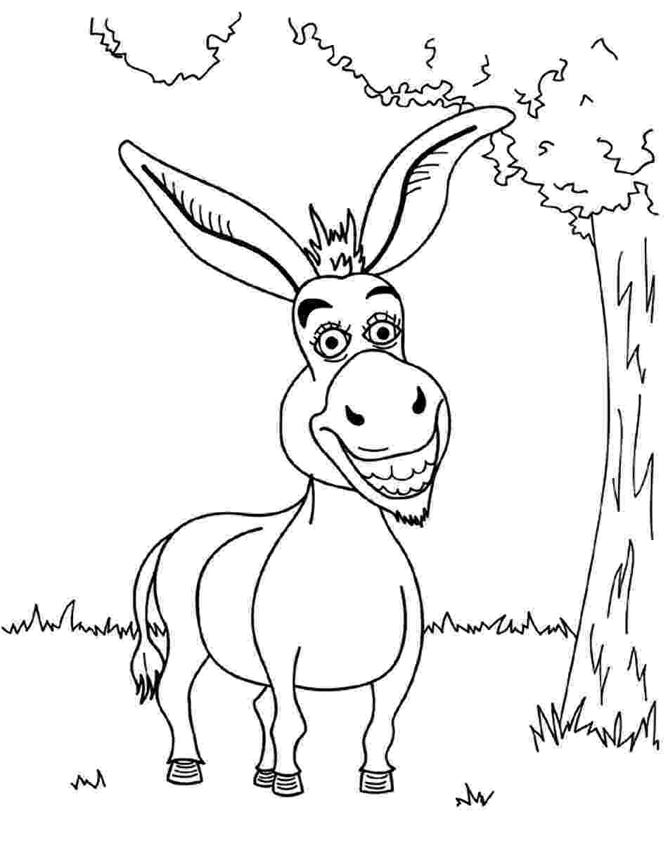 coloring pages donkey free printable donkey coloring pages for kids coloring donkey pages 1 2
