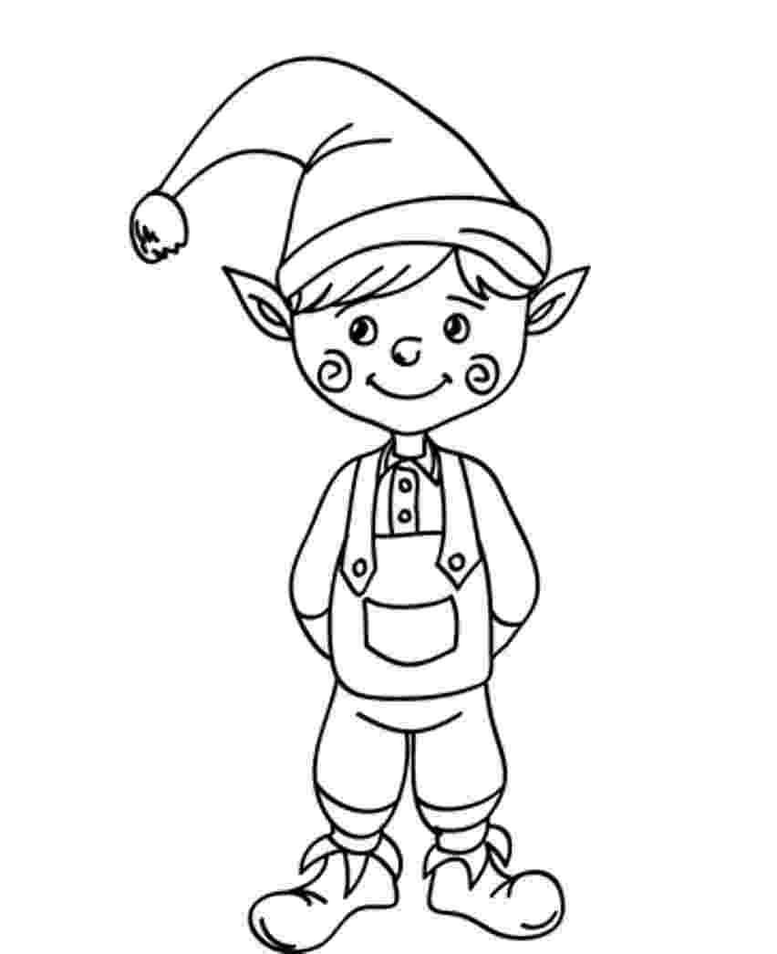 coloring pages elves free printable elf coloring pages for kids cool2bkids coloring elves pages