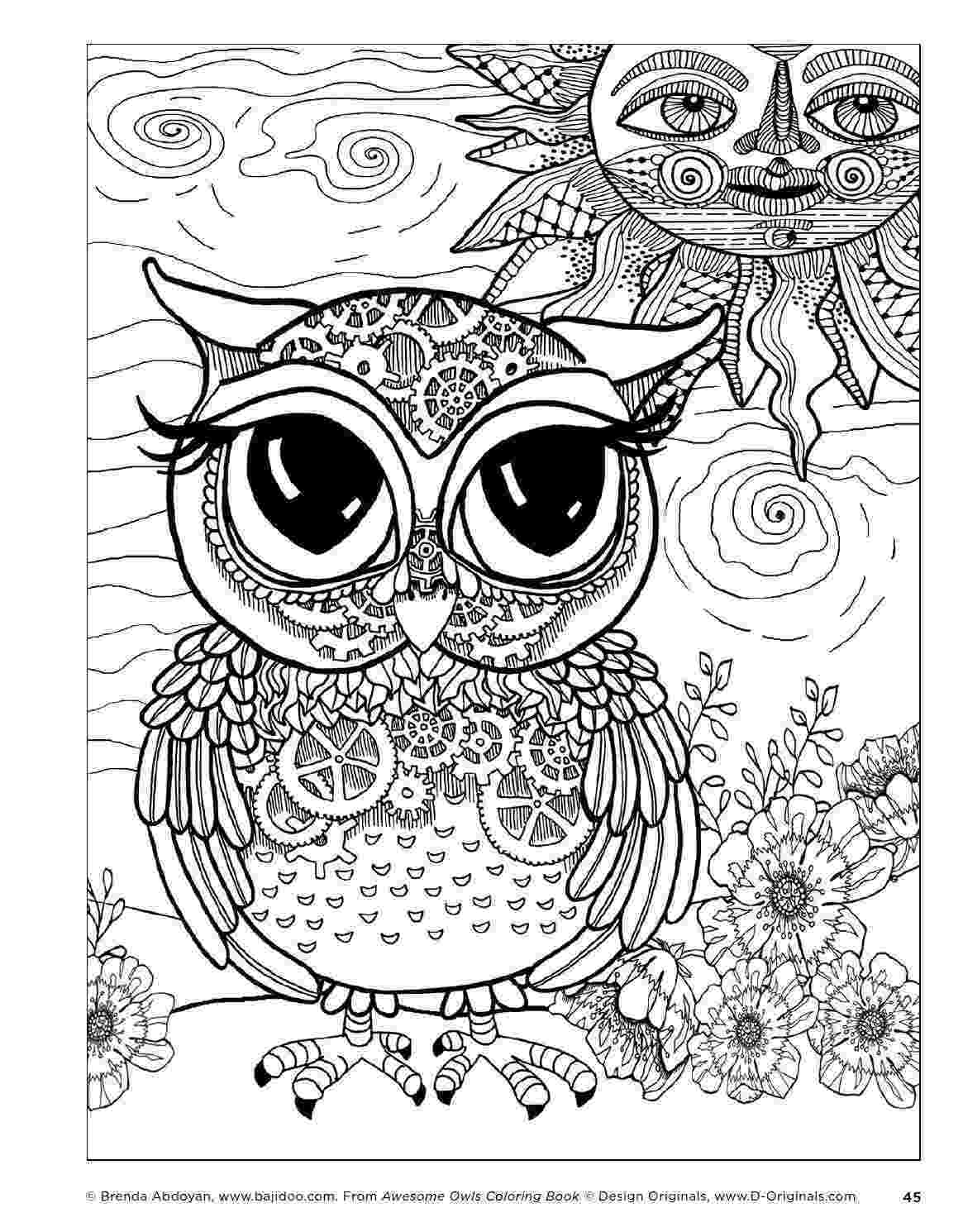 coloring pages for adults with owls awesome owls coloring book by fox chapel publishing adults coloring owls with pages for