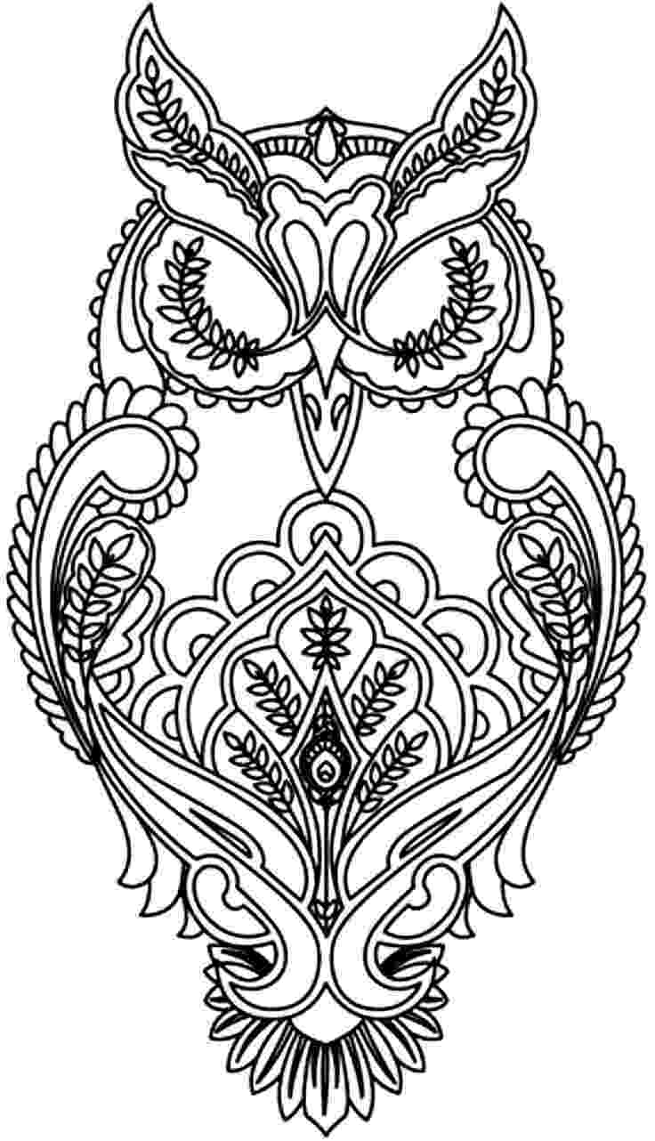 coloring pages for adults with owls free difficult coloring pages for adults with adults owls coloring pages for