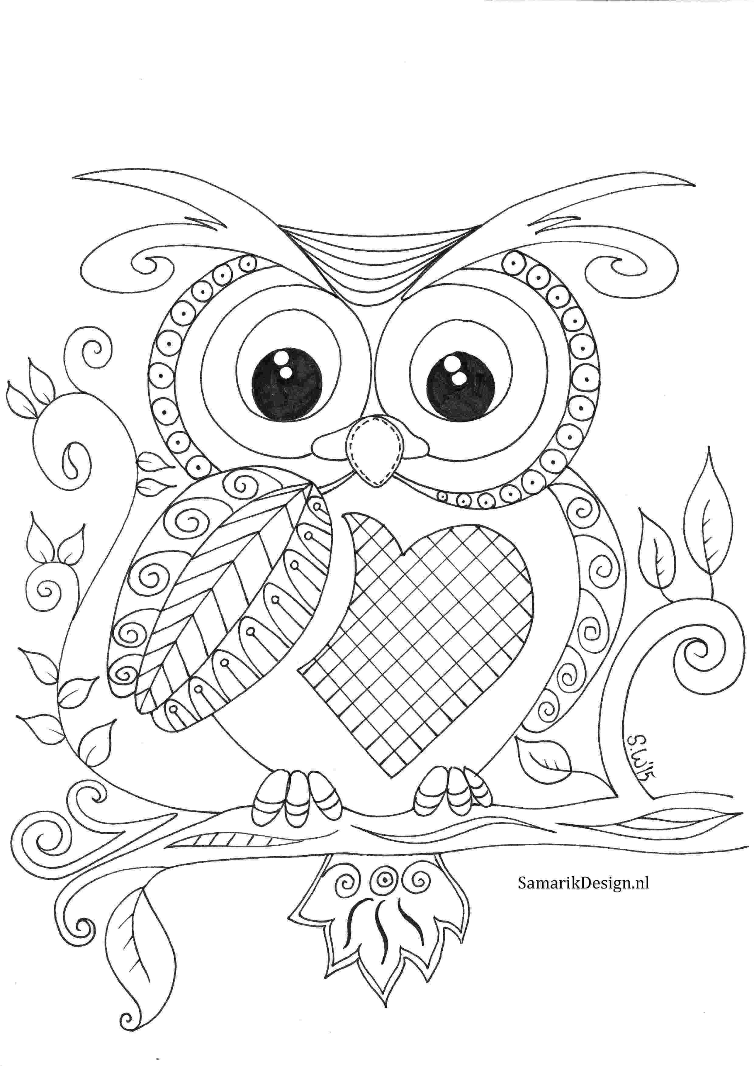 coloring pages for adults with owls owl coloring pages for adults free detailed owl coloring coloring adults for owls pages with