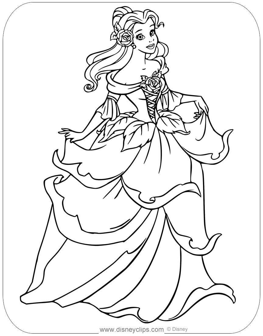 coloring pages for beauty and the beast beauty and the beast coloring pages disneyclipscom coloring for the beast and beauty pages