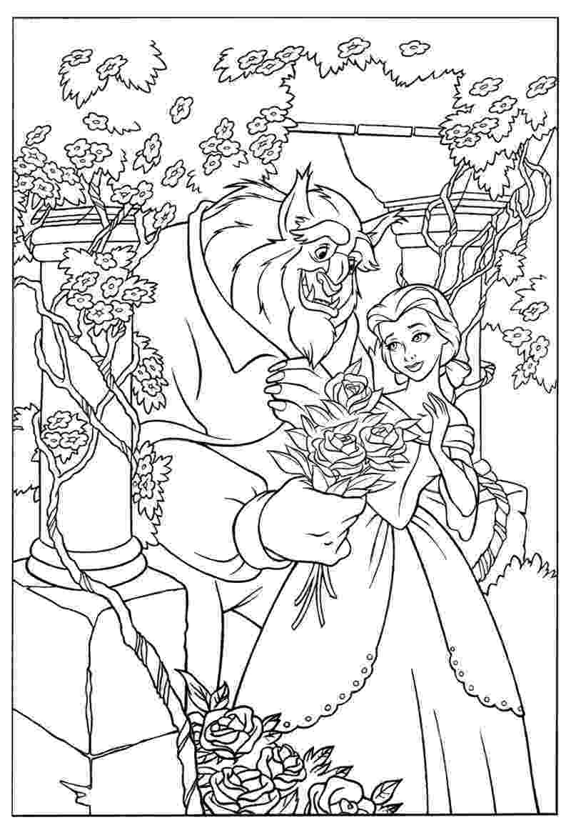 coloring pages for beauty and the beast coloring pages for beauty and the beast cute kawaii coloring beast and pages the beauty for