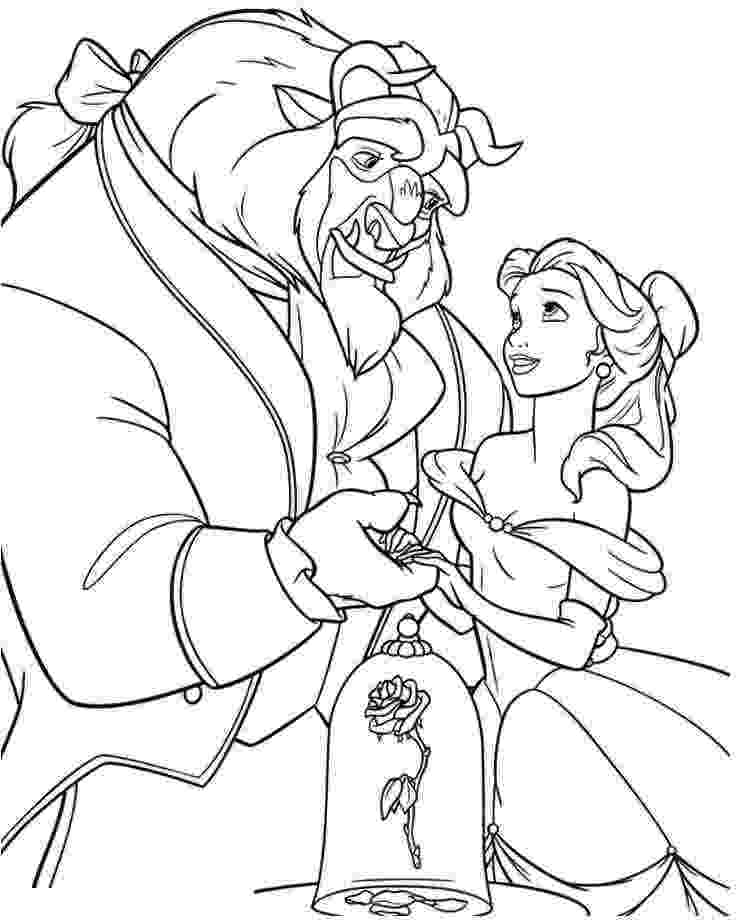 coloring pages for beauty and the beast coloring pages the beast and beauty and the beast on pages beast the coloring beauty for and