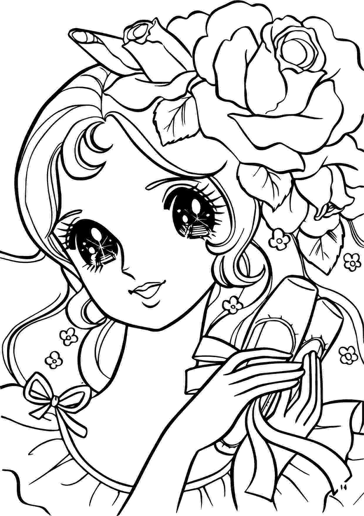 coloring pages for girls flowers flower girl cute line drawing desenhos para pintar pages flowers coloring for girls
