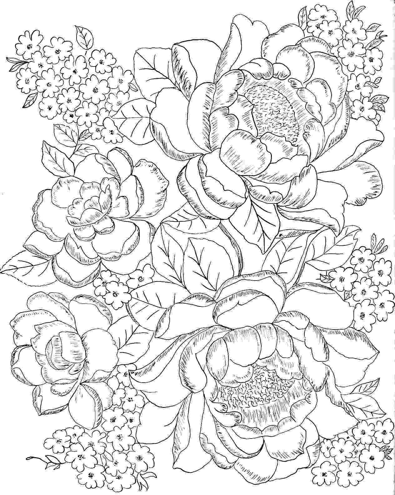 coloring pages for girls flowers flowers coloring pages color printing flower girls pages coloring flowers for