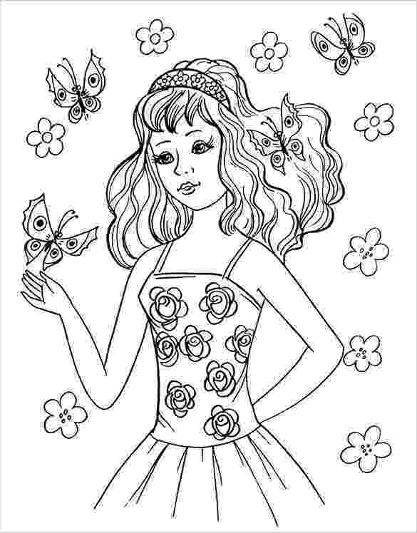 coloring pages for teen girls pin on outlines for girls pages teen coloring