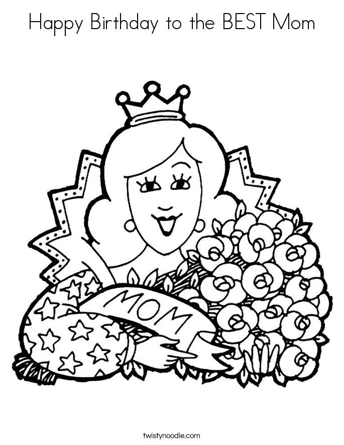 coloring pages happy birthday mom happy birthday mom balloons coloring page coloring page pages mom coloring birthday happy