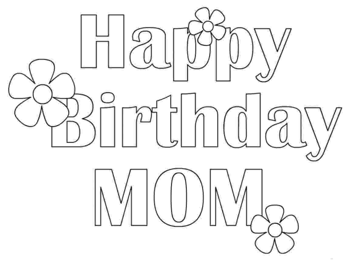 coloring pages happy birthday mom happy birthday mom coloring page for kids coloring page happy pages mom birthday coloring